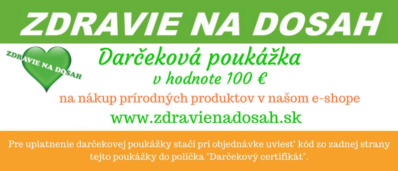 adbc69124 Darčeková poukážka v hodnote 100 €