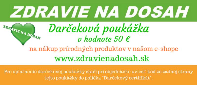 Darčeková poukážka v hodnote 50 € df507f2de6d